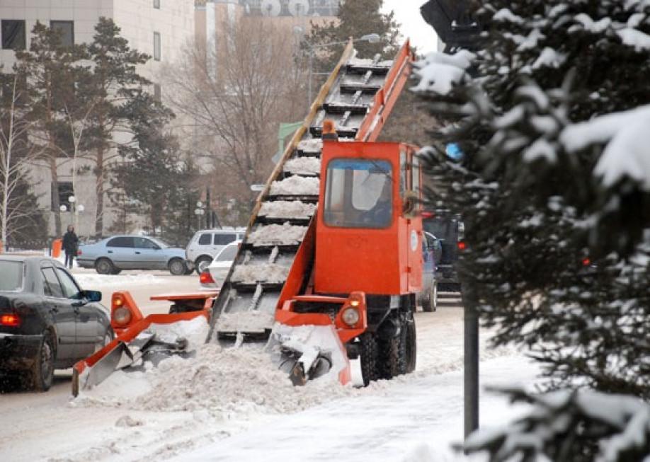 За минувшие сутки в Астане убрано более 19 тыс. кубометров снега