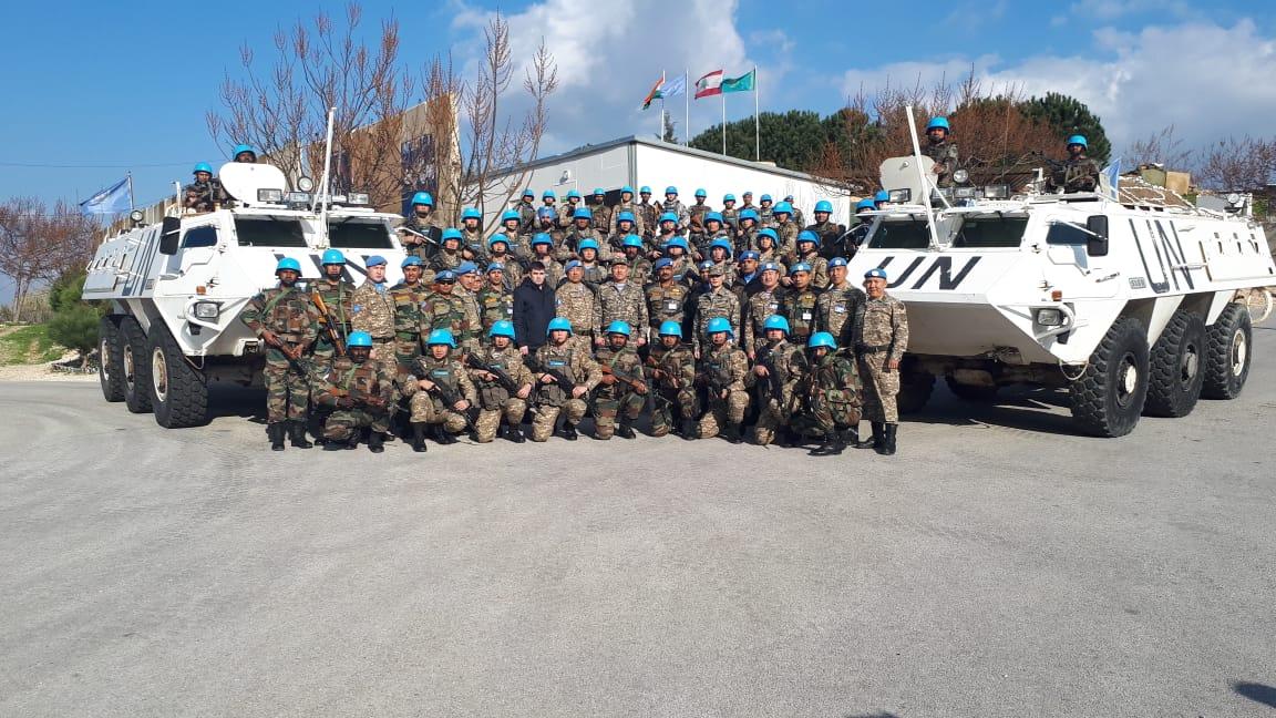 Военные инспекторы проверили психологическое состояние миротворцев РК в Ливане