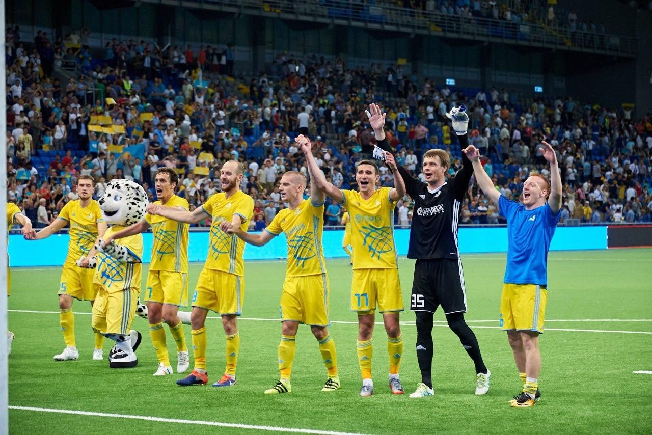 «Астана» футбол клубы УЕФА тізіміндегі ТОП-60-қа ілікті