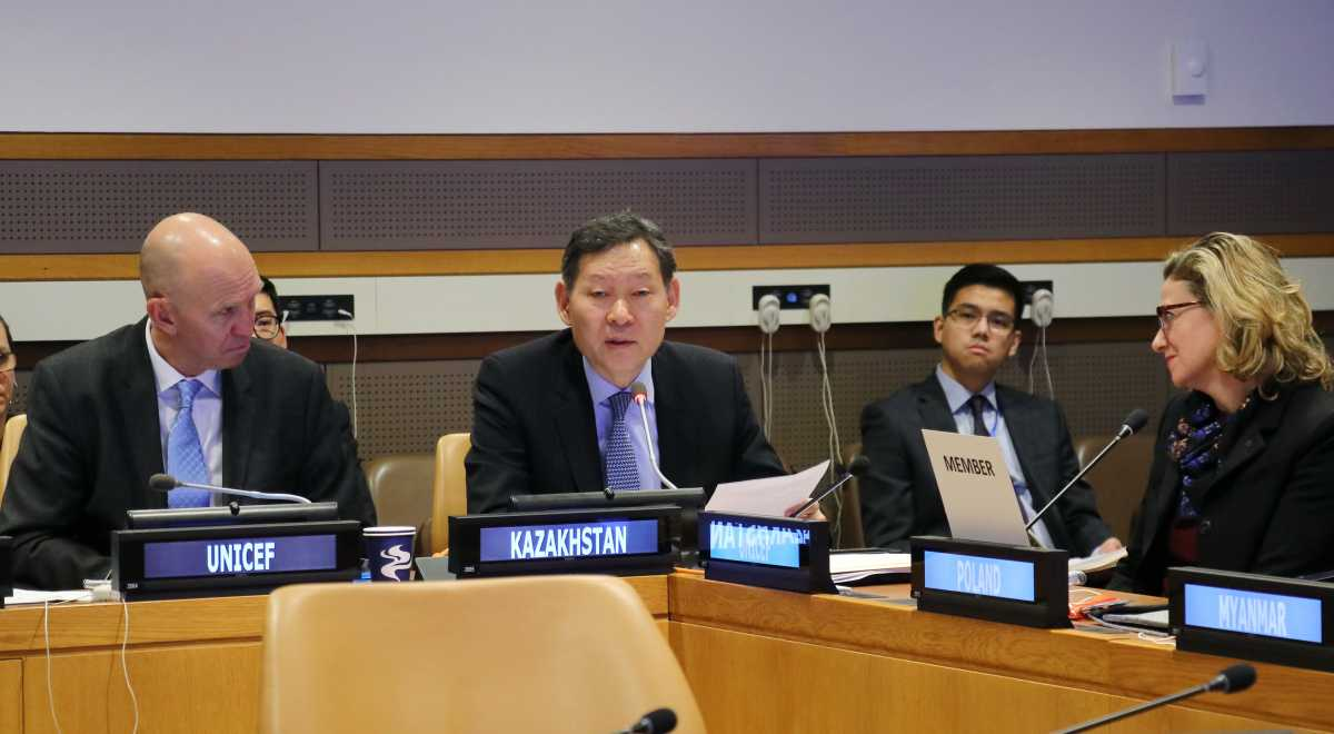 Казахстан возглавил Группу друзей ООН по реинтеграции детей