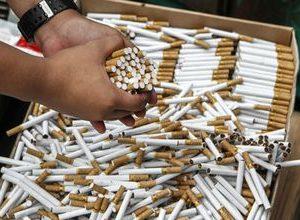В Актау изъяли около 13,5 млн штук контрабандных сигарет