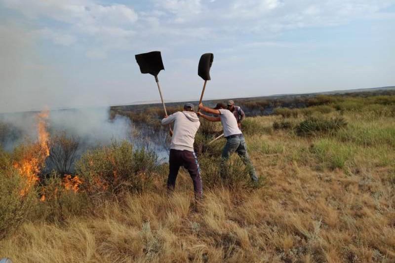 Еще два степных пожара возникли в Карагандинской области