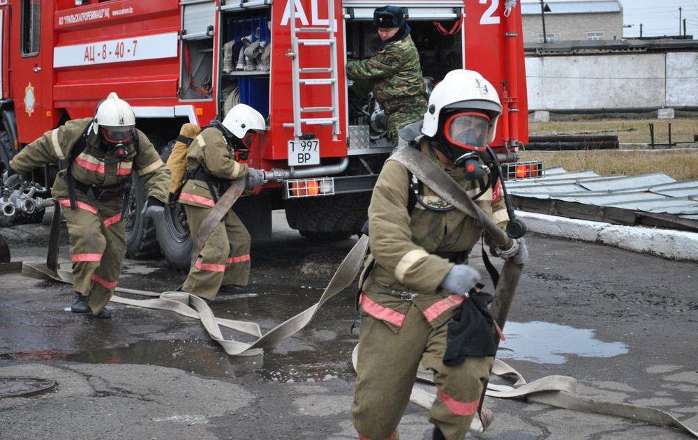 В слесарной мастерской при колледже в Акмолинской области произошел пожар