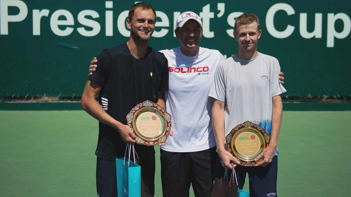 Голубев и Недовесов победили на Кубке Президента по теннису