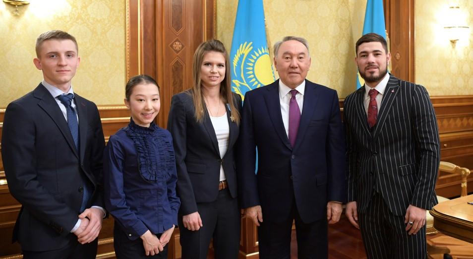 Нурсултан Назарбаев встретился с победителями и призерами международных спортивных соревнований