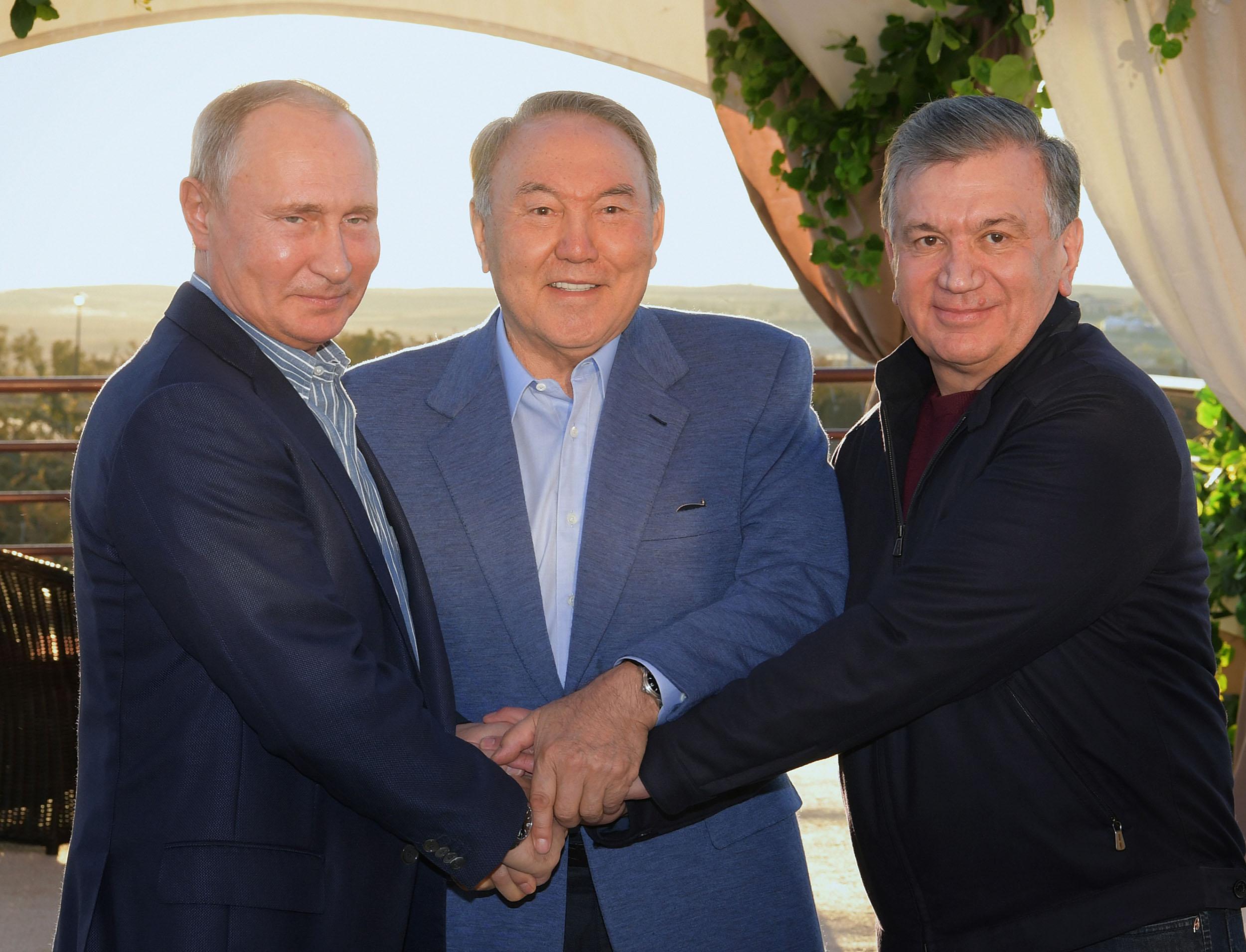 Президенты Казахстана, России и Узбекистана обсудили вопросы сотрудничества