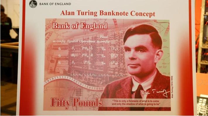Алан Тьюринг суреті 50 фунттық банкнотта бейнеленбек
