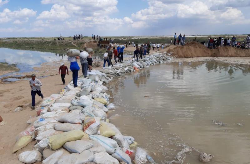 Өзбекстан Мақтааралдың су коллекторларын тазалайды