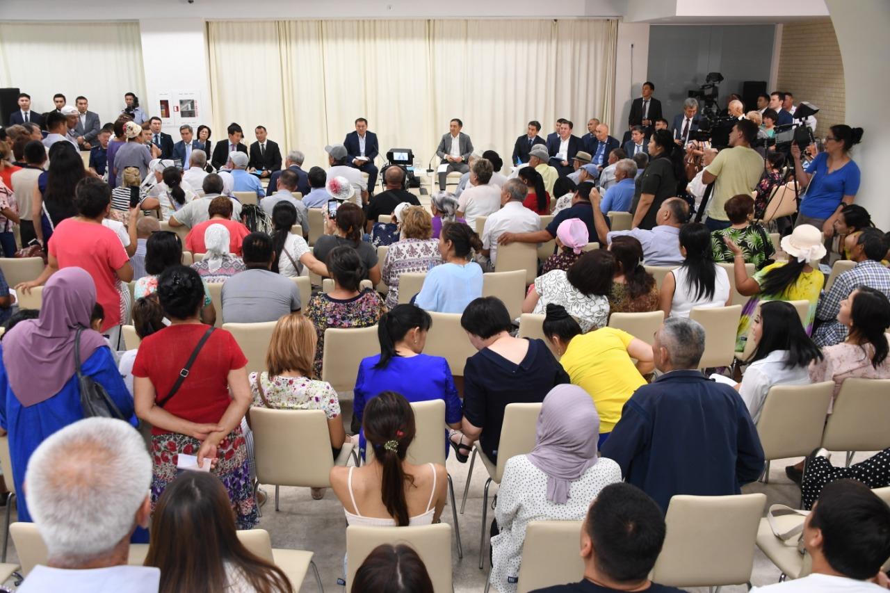 Бакытжан Сагинтаев встретился с жителями Алатауского района Алматы