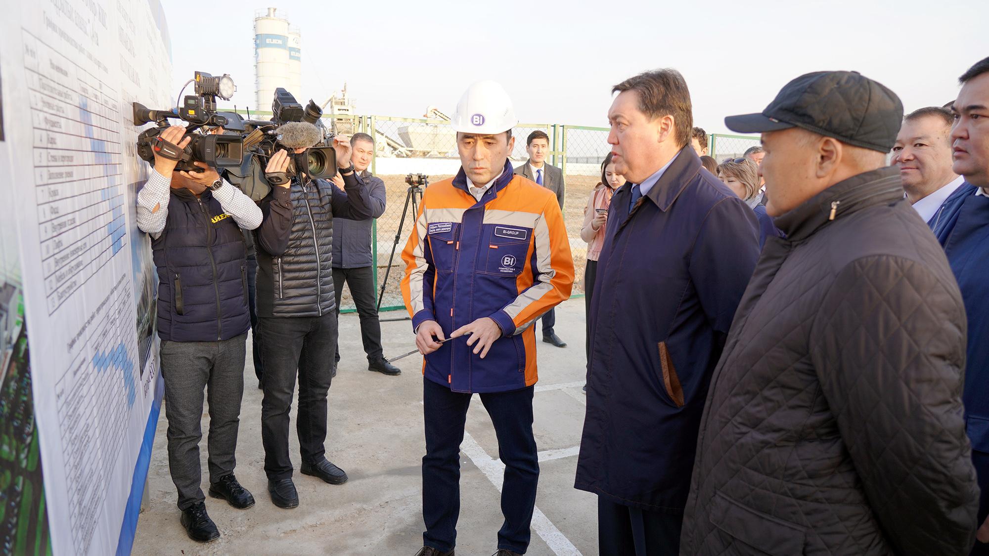 Премьер-министр Түркістан қаласында құрылыс жұмыстарын күшейтуді тапсырды