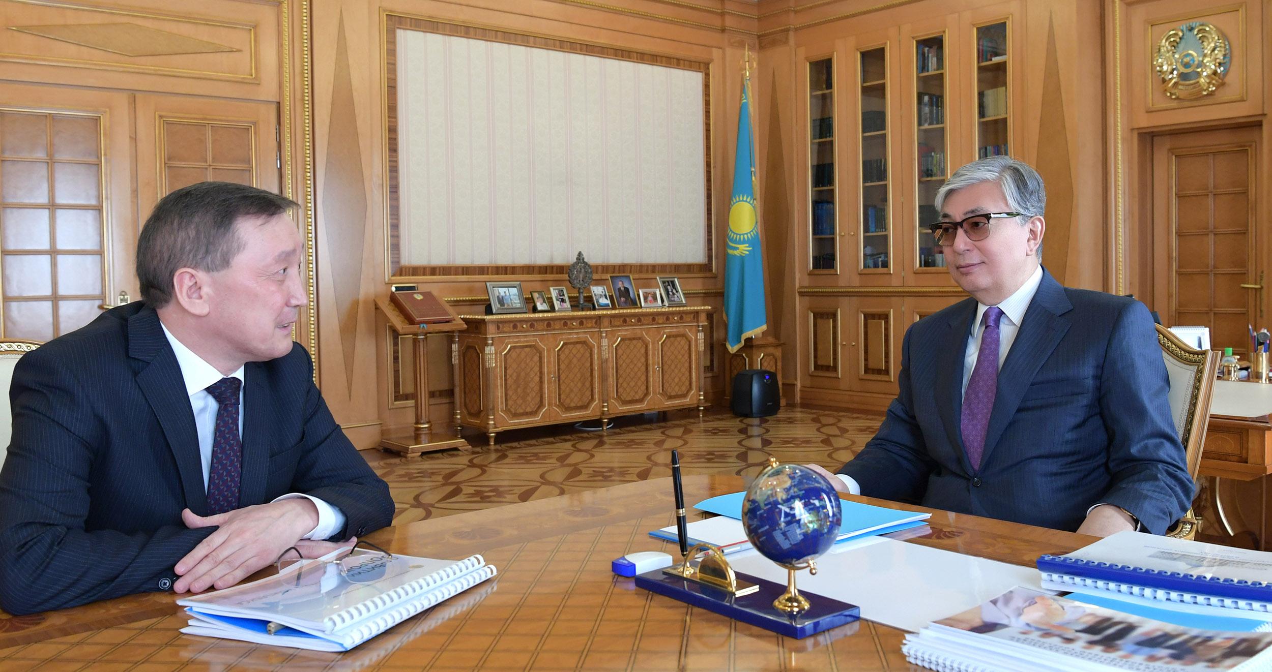 Қасым-Жомарт Тоқаев Ауыл шаруашылығы министрін қабылдады