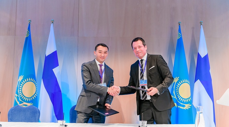 23 соглашения на $545 млн подписаны по итогам визита Нурсултана Назарбаева в Финляндию
