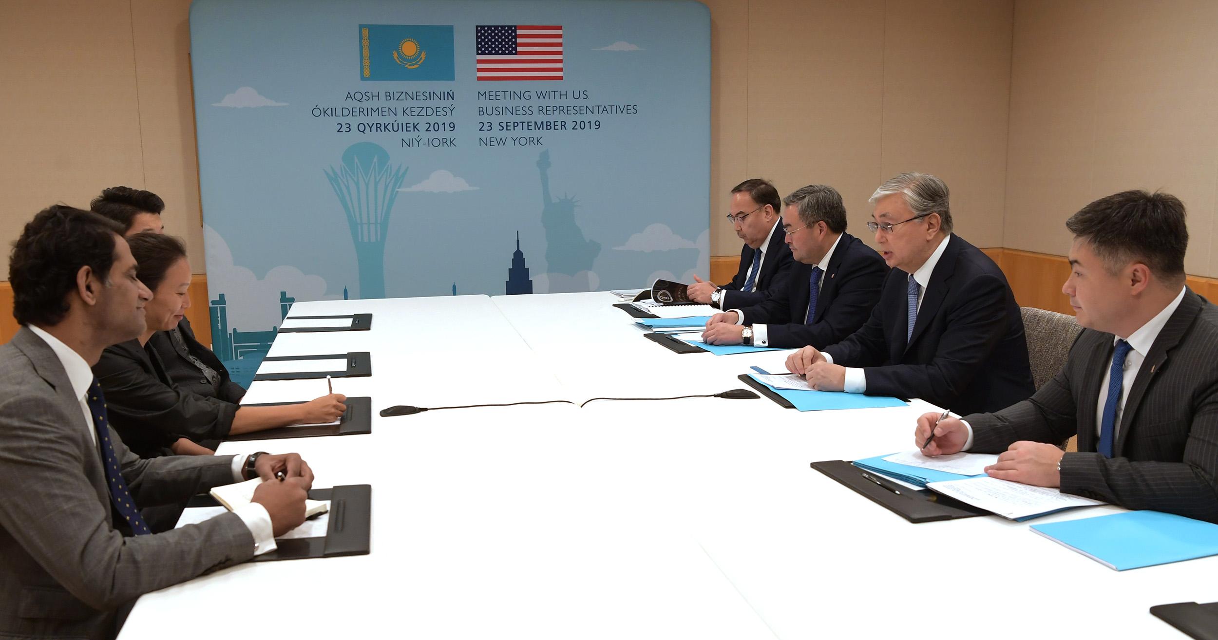 Токаев: «Казахстан стремится к расширению экономического партнерства с США»