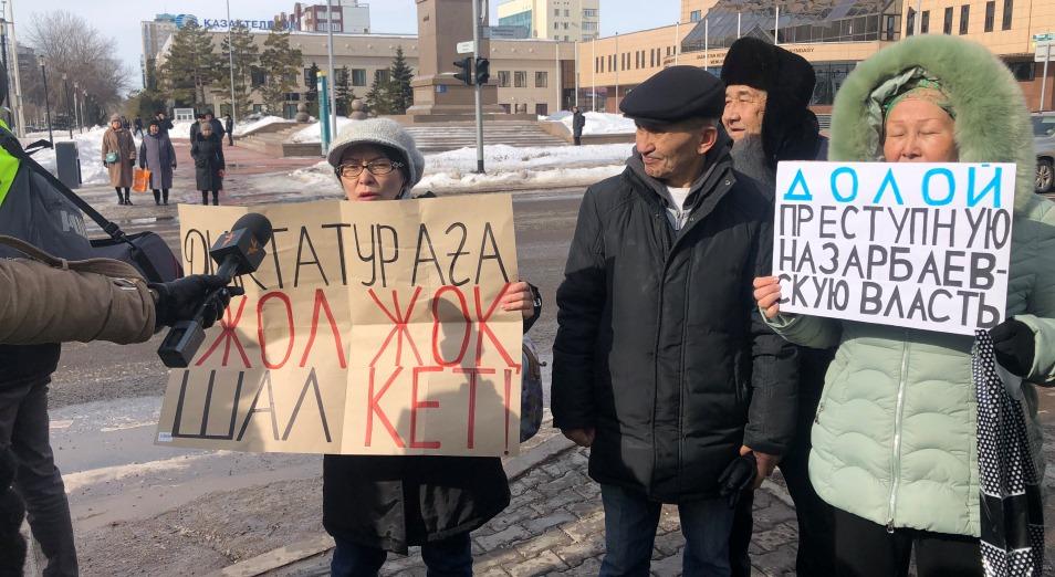 Десятки человек были задержаны в воскресенье в столице Казахстана