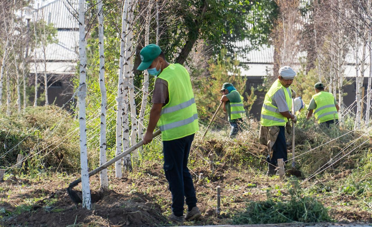 В жилом массиве Коктал в столице ведется строительство парка