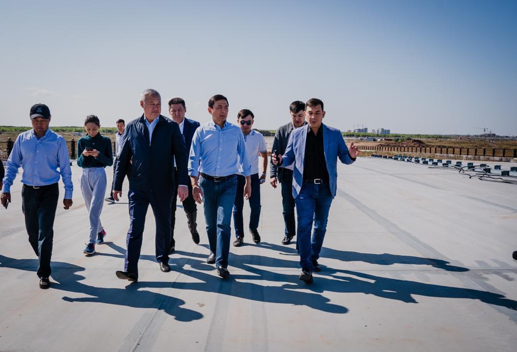 Алтай Көлгінов жол құрылысын тексерді