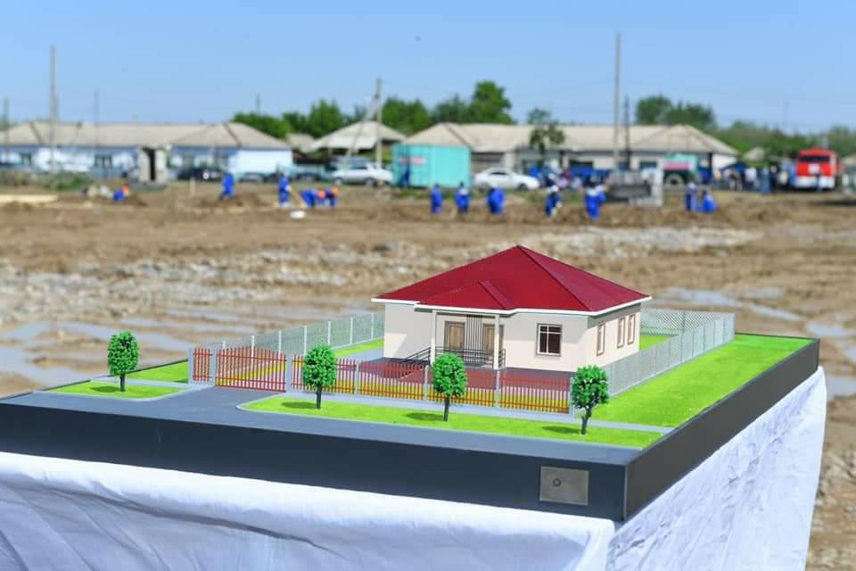 В Мактаарале начали строить 20 жилых домов