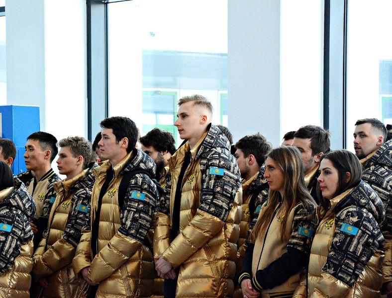 Сборная Казахстана отправилась на XXIX зимнюю Универсиаду-2019
