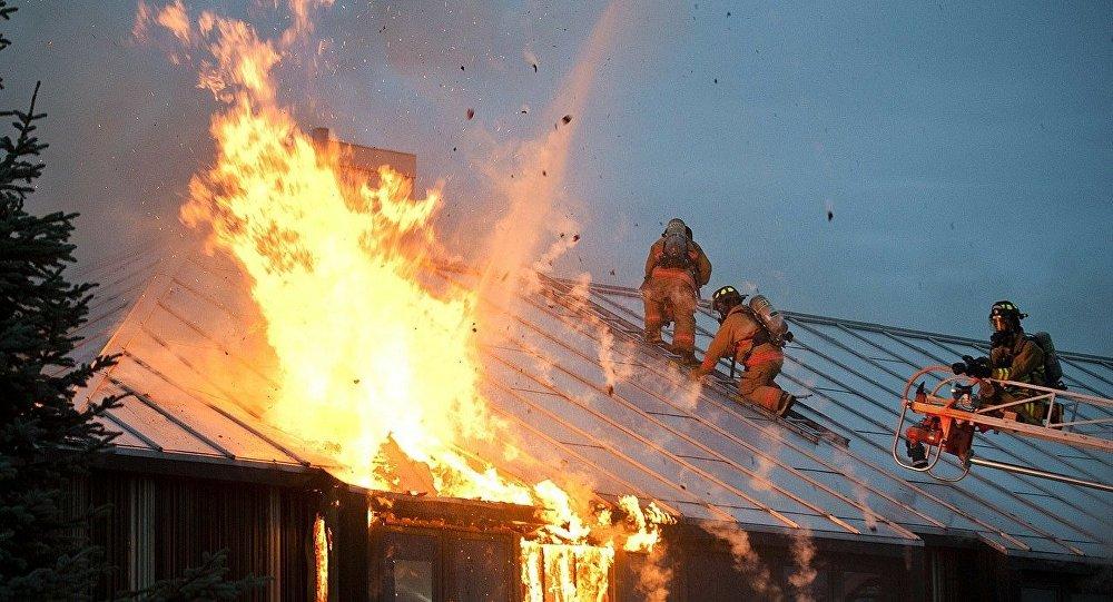 В Кызылординской области загорелась школа