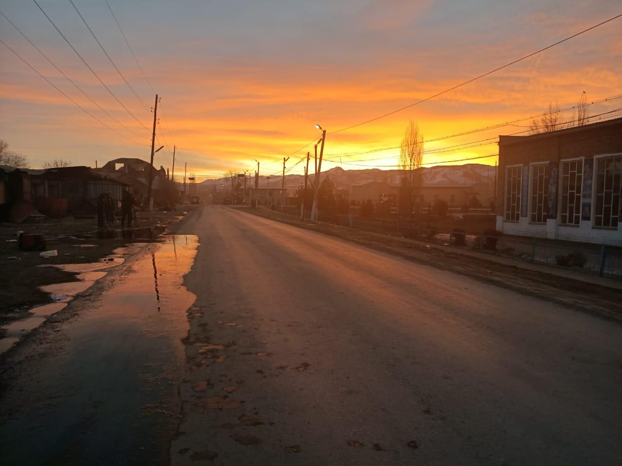 Масаншы ауылының таңғы көрінісі (Фоторепортаж)