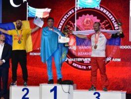 Еркін Әлімжанов армрестлингтен екі дүркін әлем чемпионы атанды