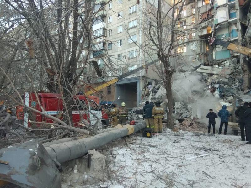 После взрыва газа в Магнитогорске в Челябинской области ввели режим ЧС