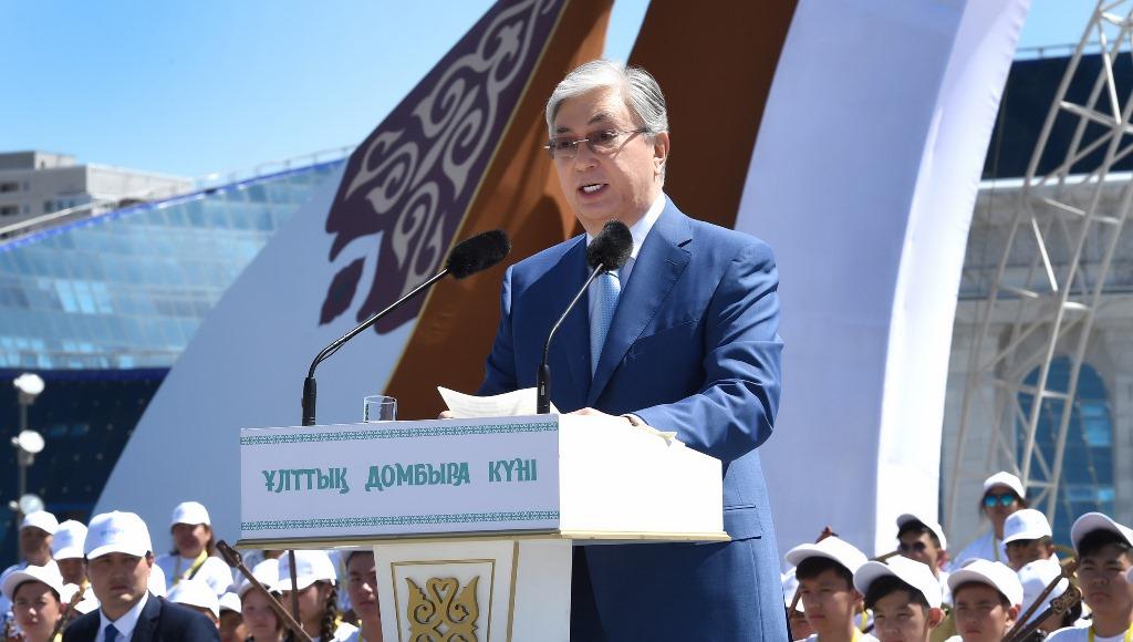 Касым-Жомарт Токаев посетил концерт, посвященный Национальному дню домбры