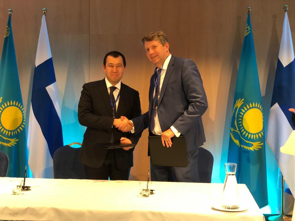 Астана и Хельсинки  договорились о развитии контейнерных перевозок