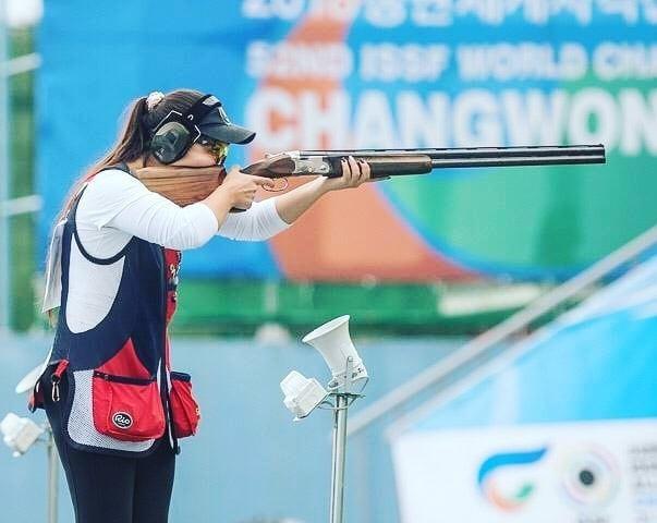 Сарсенкуль Рысбекова завоевала олимпийскую лицензию на ЧА по стендовой стрельбе