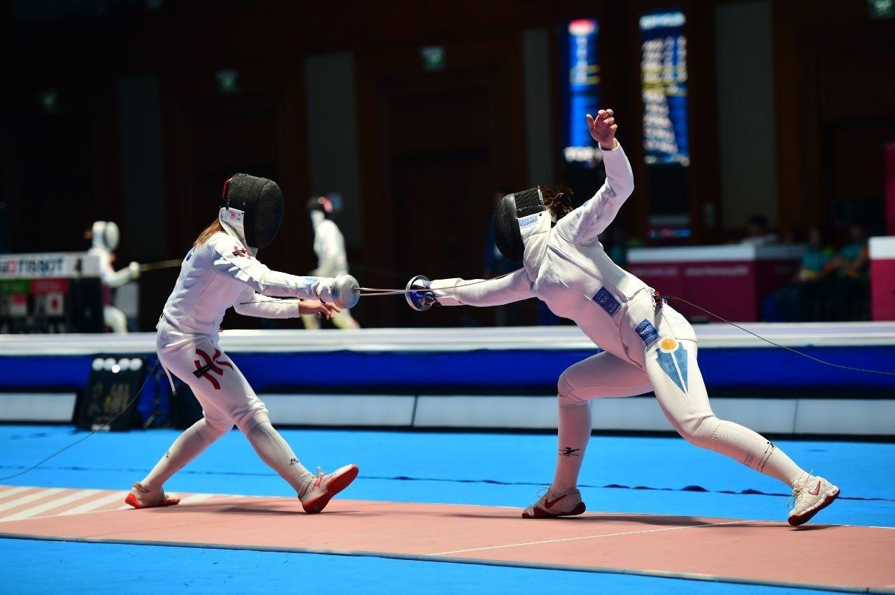 Как казахстанские спортсмены выступили на ЧА по фехтованию