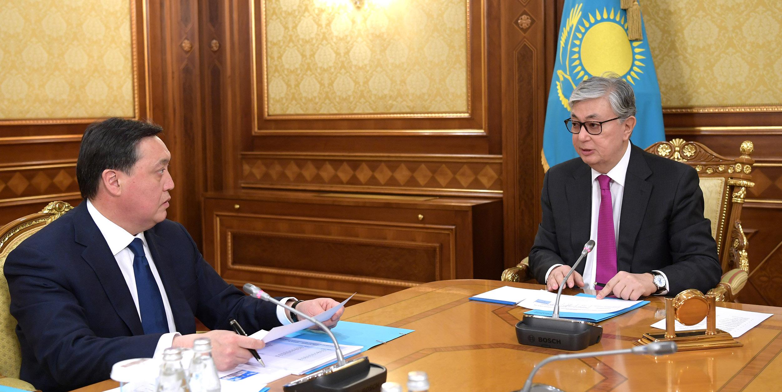 Касым-Жомарт Токаев поручил премьер-министру обеспечить качественную реализацию реформ в рамках плана нации