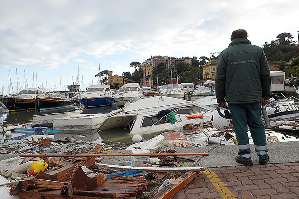 В Италии два человека погибли из-за непогоды