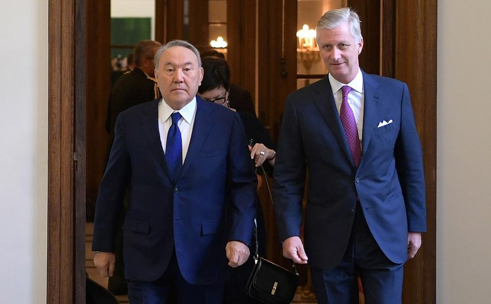 В Брюсселе проходит встреча президента РК с королём Бельгии