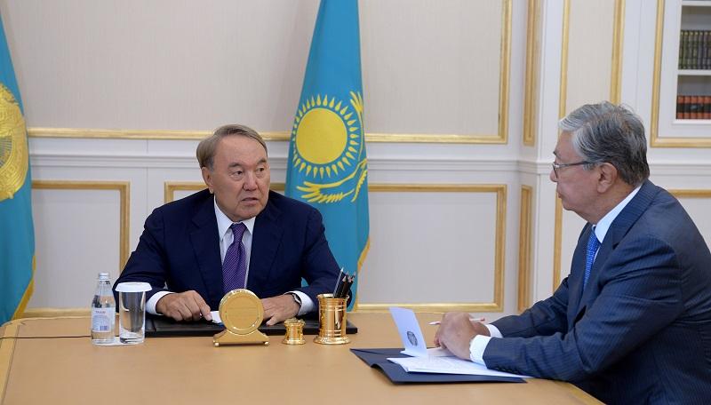 Назарбаев обсудил с Токаевым план работ на предстоящую парламентскую сессию