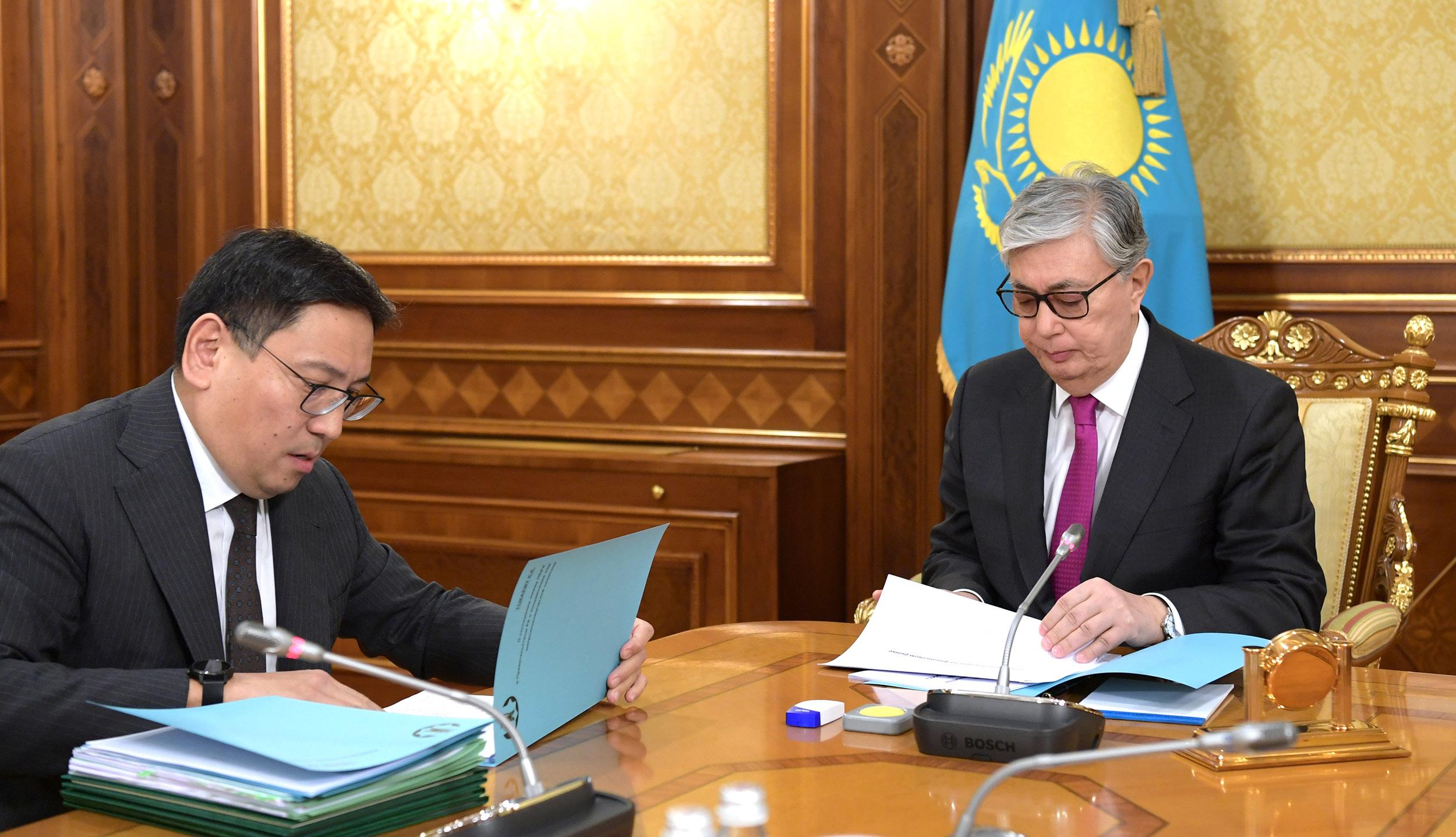 Президент встретился с председателем Нацбанка Ерболатом Досаевым
