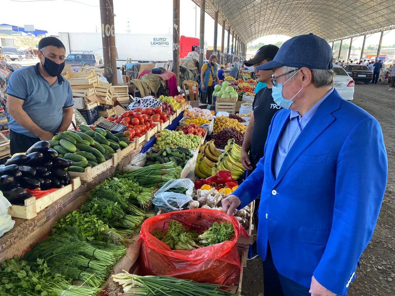 Бердибек Сапарбаев поручил устранить нарушение санитарных требований на рынке «Ауыл береке»