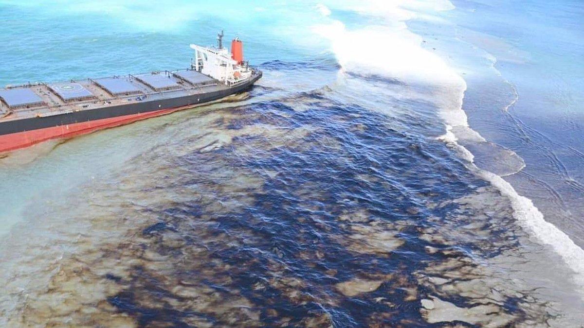 Япония направит команду специалистов для ликвидации разлива нефтепродуктов у Маврикия