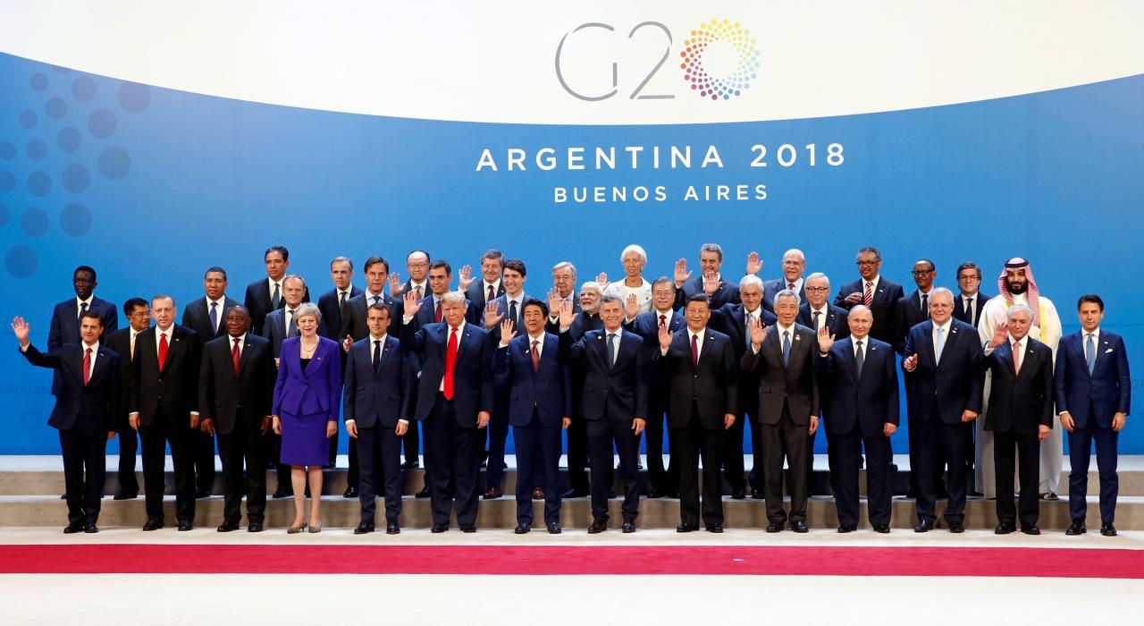 """Трамп прибыл на первое заседание саммита G20 позже других лидеров """"двадцатки"""""""