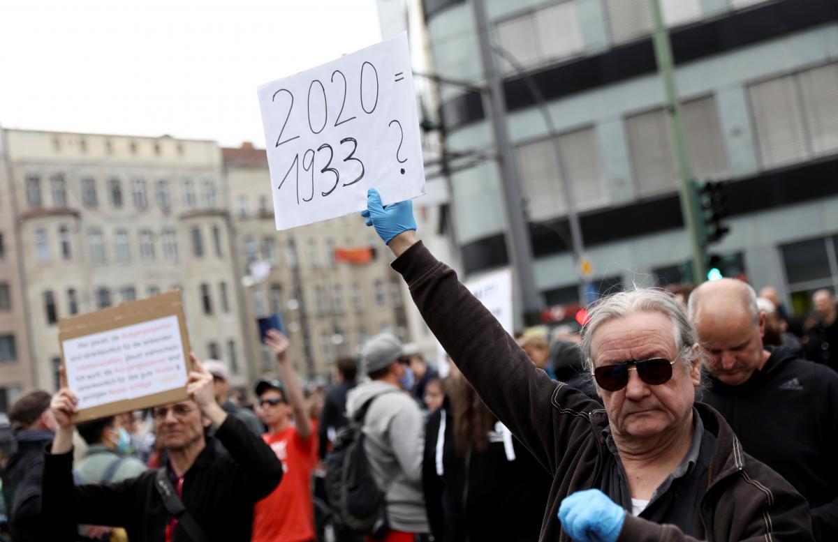 В Берлине на акции протеста против карантинных мер задержаны более 100 человек