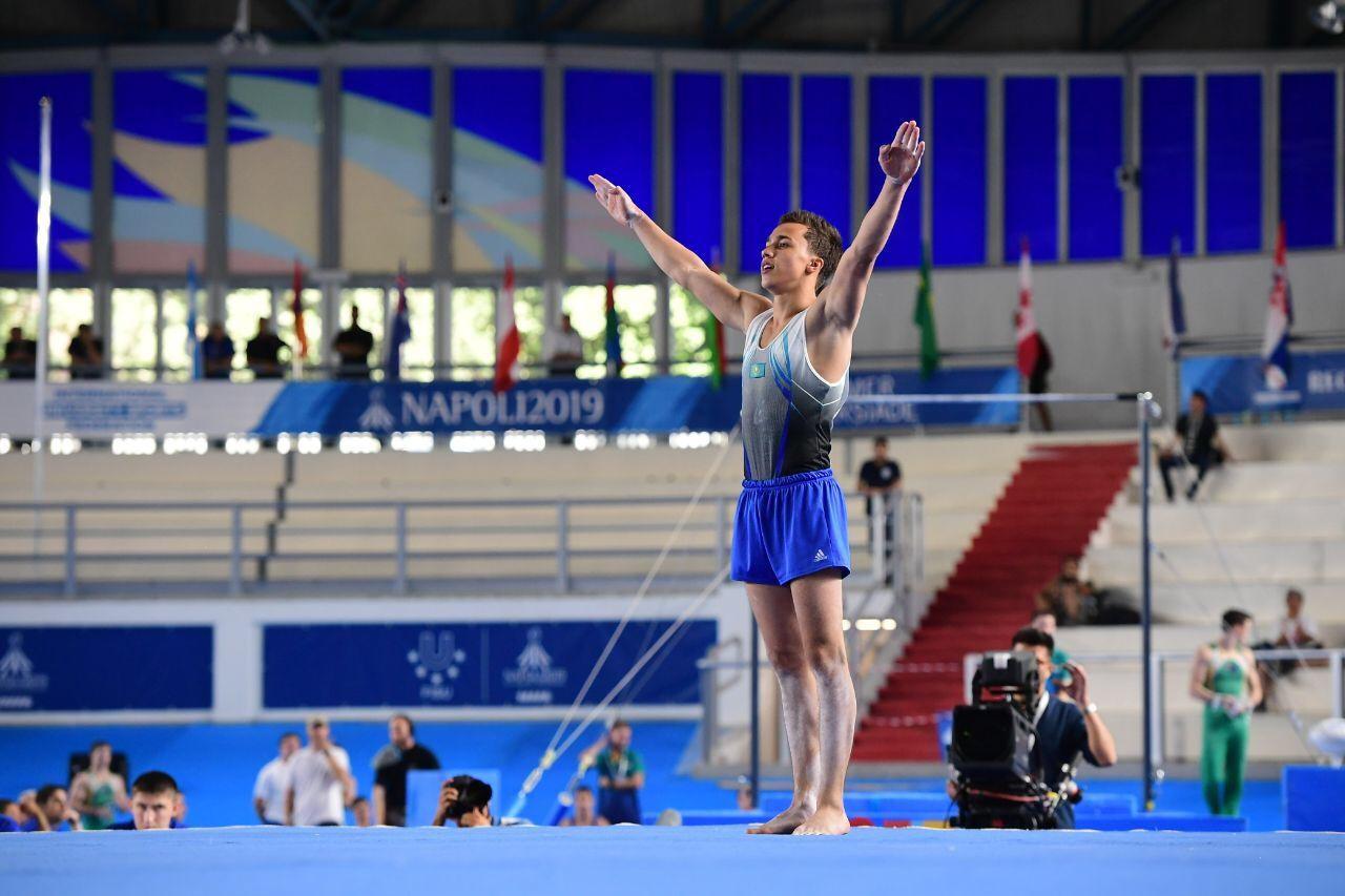 Казахстанские гимнасты вышли в финалы Универсиады в Неаполе
