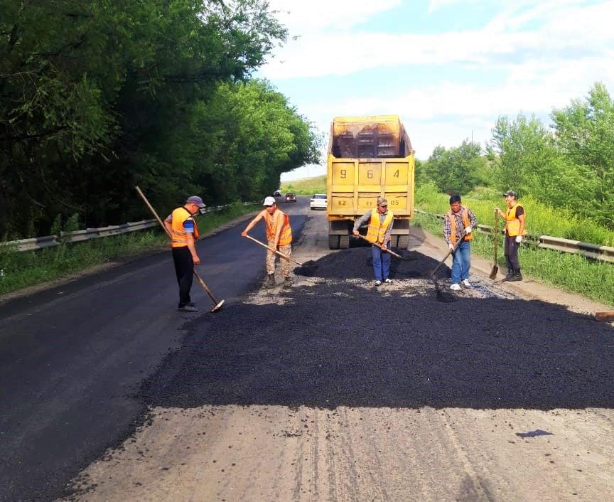 В Алматинской области ремонтируют 73,2 км дорог