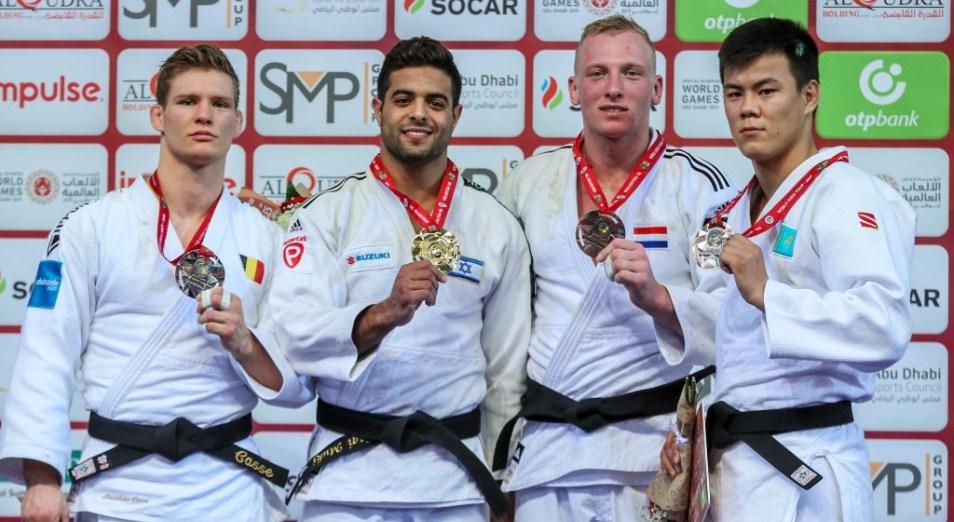 Казахстанцы привезли три награды с Grand Slam по дзюдо в Абу-Даби