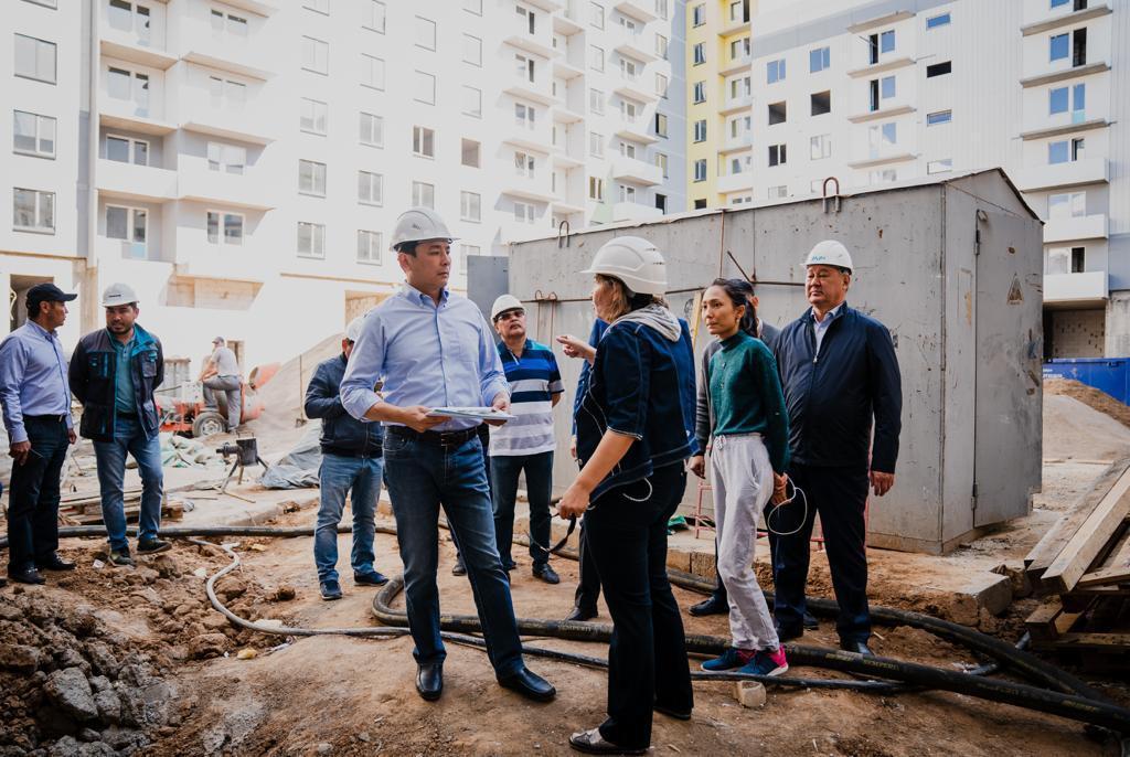 Аким столицы посетил стройплощадку ЖК