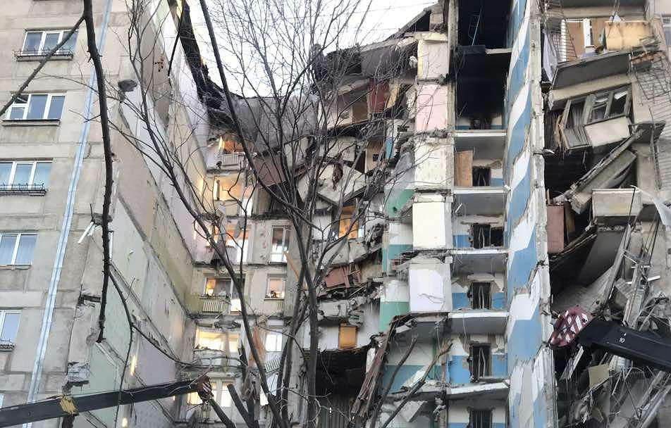 Число жертв при обрушении дома в российском Магнитогорске составляет семь человек
