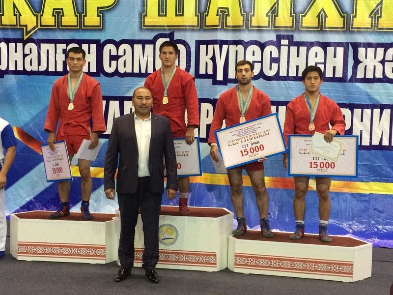 Акмолинский самбист завоевал бронзу Международного турнира
