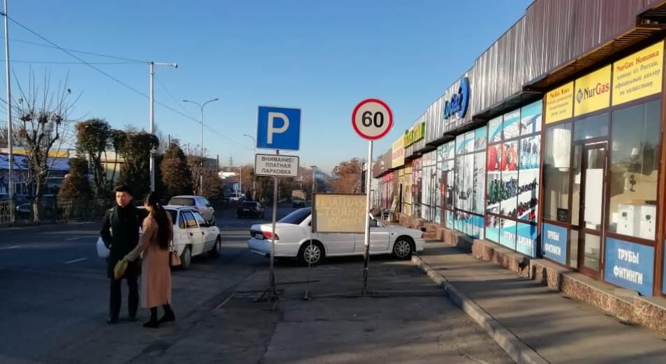 В Шымкенте нет ни одной законной придорожной парковки
