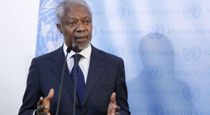 Ушёл из жизни бывший генсек ООН и нобелевский лауреат Кофи Аннан