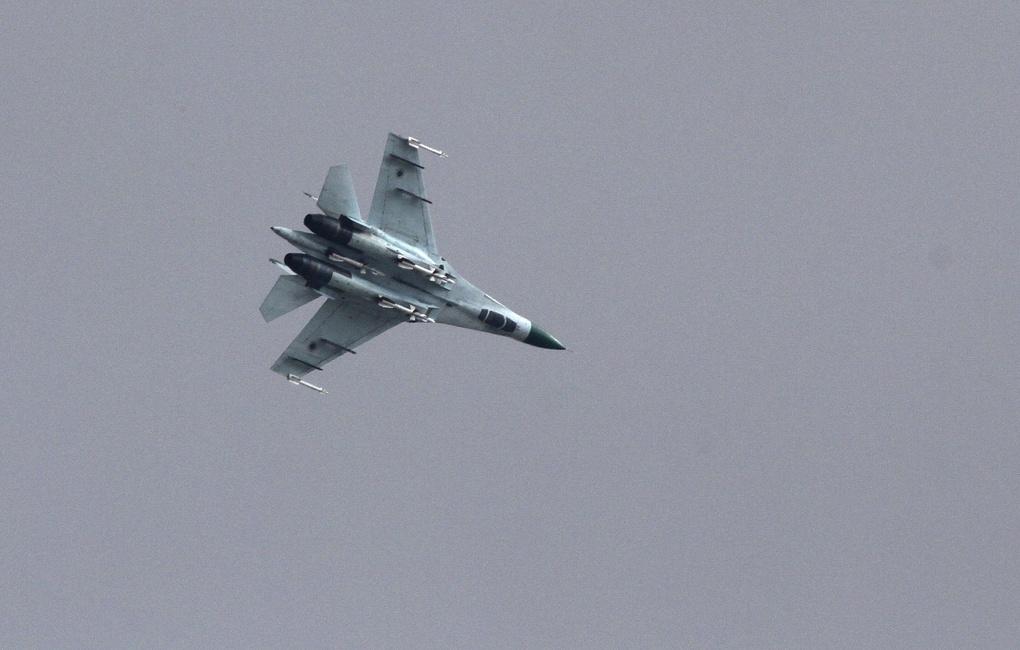 На Украине во время учений разбился самолет Су-27