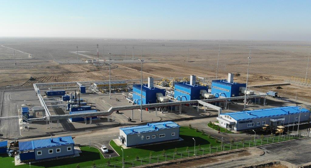 """КазТрансГаз ввел в эксплуатацию компрессорную станцию """"Туркестан"""""""