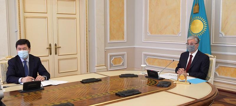 Касым-Жомарт Токаев  заслушал отчет председателя Национального банка